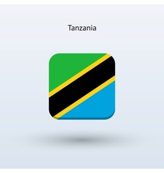 Tanzania flag icon vector