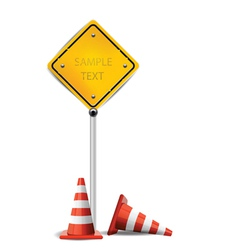 traffic cones vector image