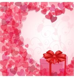 vintage valentine card vector image