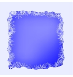 Winter Snow Frame vector image vector image