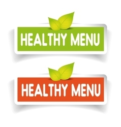 Healthy menu label set vector