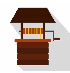 Water well icon flat style vector image