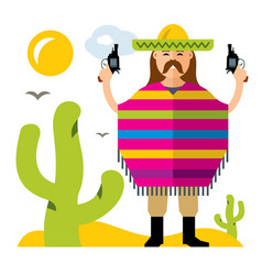 Crime in mexico flat style colorful vector