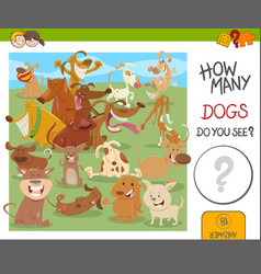 how many dogs game vector image