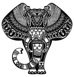 tattoo elephant vector image