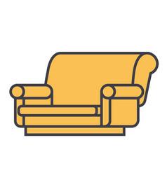 Sofa concept line icon editable stroke vector