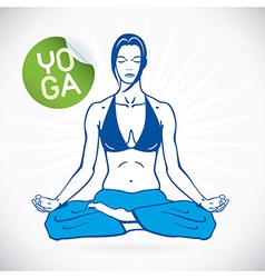 Yoga fitness model vector