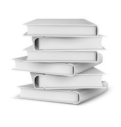 Big pile of books vector image