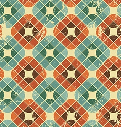 Vintage tiles with grunge texture seamless vector