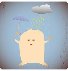 bad weather vector image