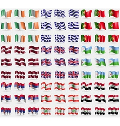 Ireland greece portugal latvia united kingdom vector