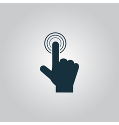 Click hand icon pointer vector