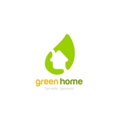 Gren house home logoplate vector
