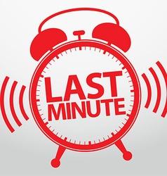 Last minute alarm clock icon vector