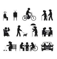 Elderly leisure activities vector