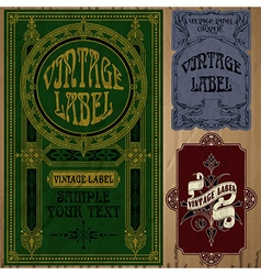 Vintage items - label vector