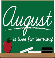 August Learning vector image