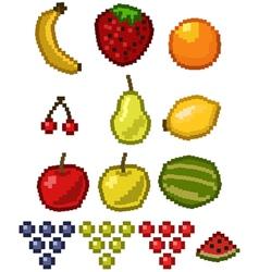 pixel fruit vector image