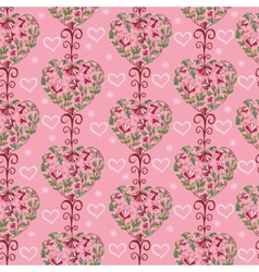 Endless floral pattern vector