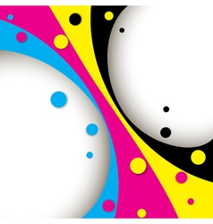 Creative cmyk abstract design vector