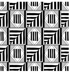 abstract seamless pattern black and white vector image vector image