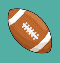 American football sport ball isolated icon vector