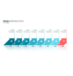 arrows shaped timeline infographic template 8 vector image