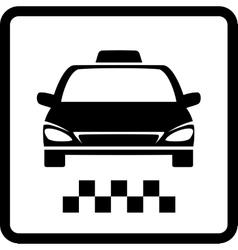 Black taxi car vector