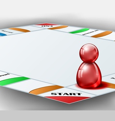 Board game with red figure vector image vector image