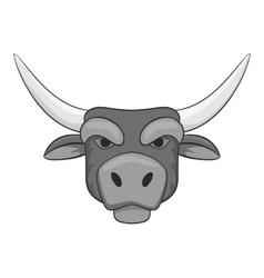 Bull head icon gray monochrome style vector