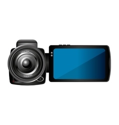 Camera lens video icon vector