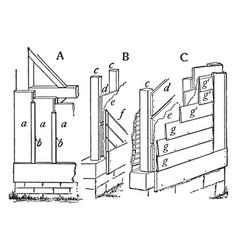 Clapboard siding vintage vector