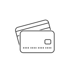 credit card outline icon vector image vector image