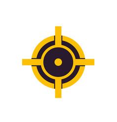 crosshair logo vector image vector image