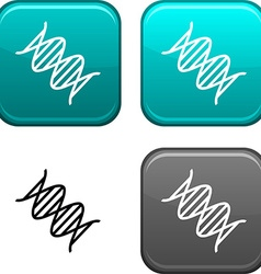 Dna button vector