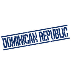 Dominican republic blue square stamp vector