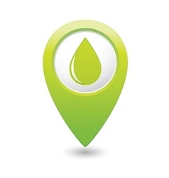 drop icon green map pointer vector image vector image