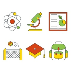 education and science concept Flat design vector image