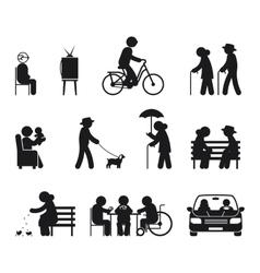 Elderly leisure activities vector