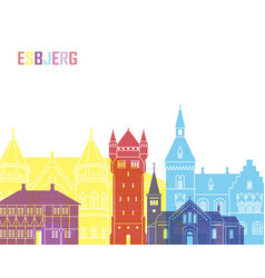 Esbjerg skyline pop vector