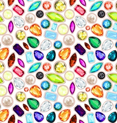 Gemstone seamless pattern vector