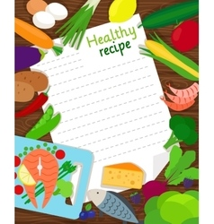 Healthy food cooking recipe paper vector