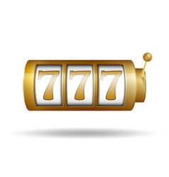 Lucky seven on slot machine gold slot machine vector