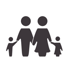 Nice family together with parents and children vector