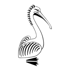 Pelican bird sign logo vector image