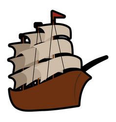 Pirate ship icon vector