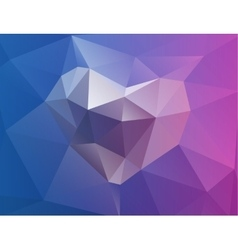 Polygonal horizontal background with heart vector image