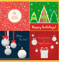 set of different colored cards with vector image
