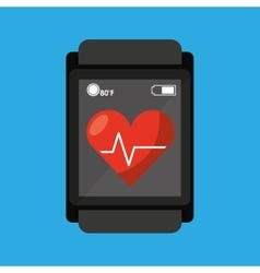 Smart watch medical service heart rate vector