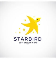 Star Bird Abstract Symbol Icon or Logo vector image